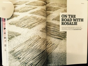 """On the Road with Rosalie"", Feature by Louise Martin-Chew, Art Guide Australia, July August 2015:p.79."